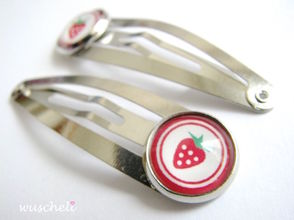 cabochon hair clips
