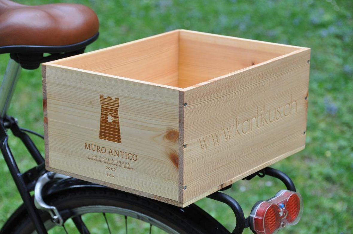 Weinkisten Velokorb Fahrradkorb