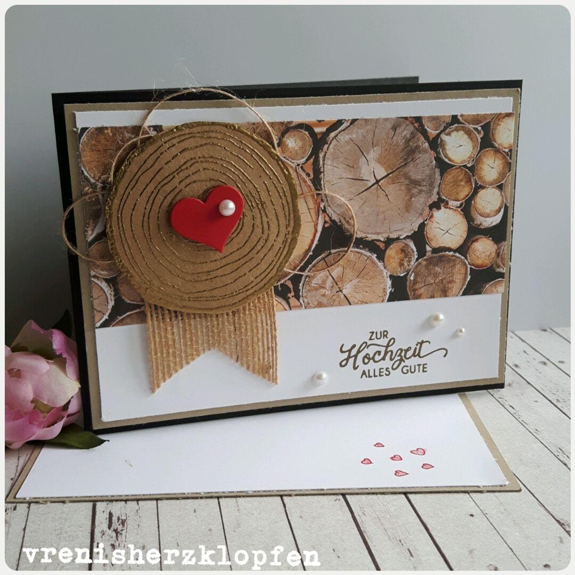 Hochzeitskarte Holz
