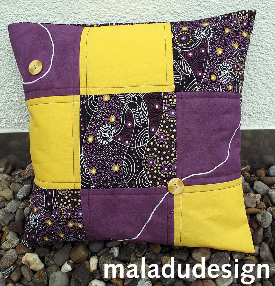 kissen aboriginal style violett. Black Bedroom Furniture Sets. Home Design Ideas