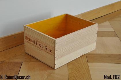 weinkisten als wandregal orange mod f02. Black Bedroom Furniture Sets. Home Design Ideas