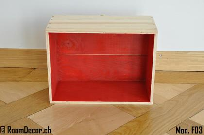 Weinkisten als wandregal rot mod f03 for Weinkisten wandregal