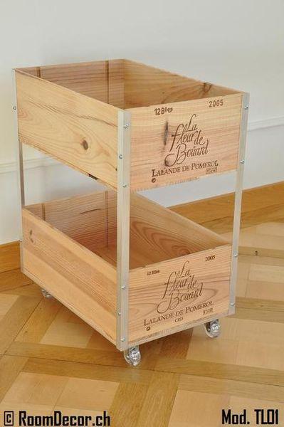 trolley aus weinkisten mod tl01. Black Bedroom Furniture Sets. Home Design Ideas