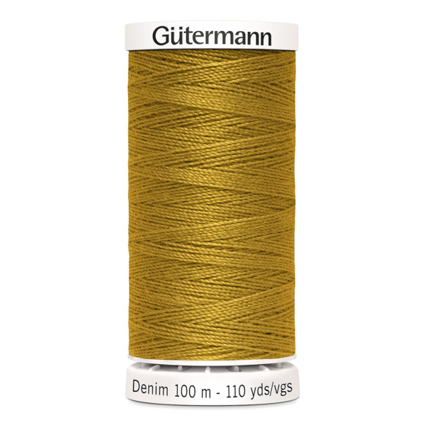 Gütermann Nähfaden Denim Jeans, goldbraun