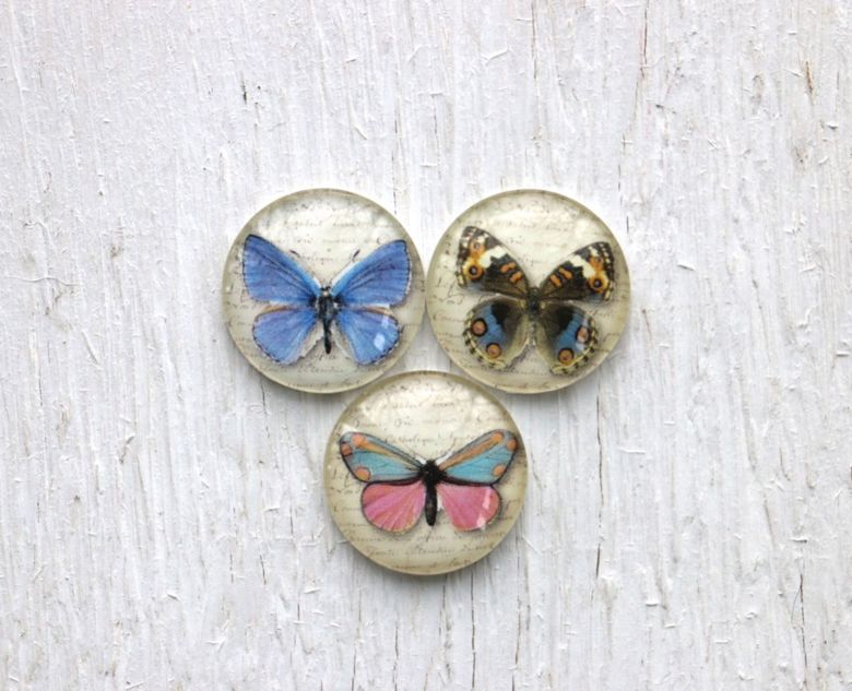 "3 25er Cabochons ""Butterfly"""