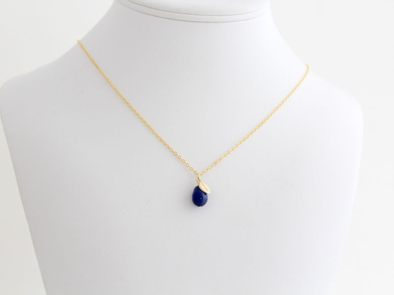 Dark Lapis - Kette in Gold