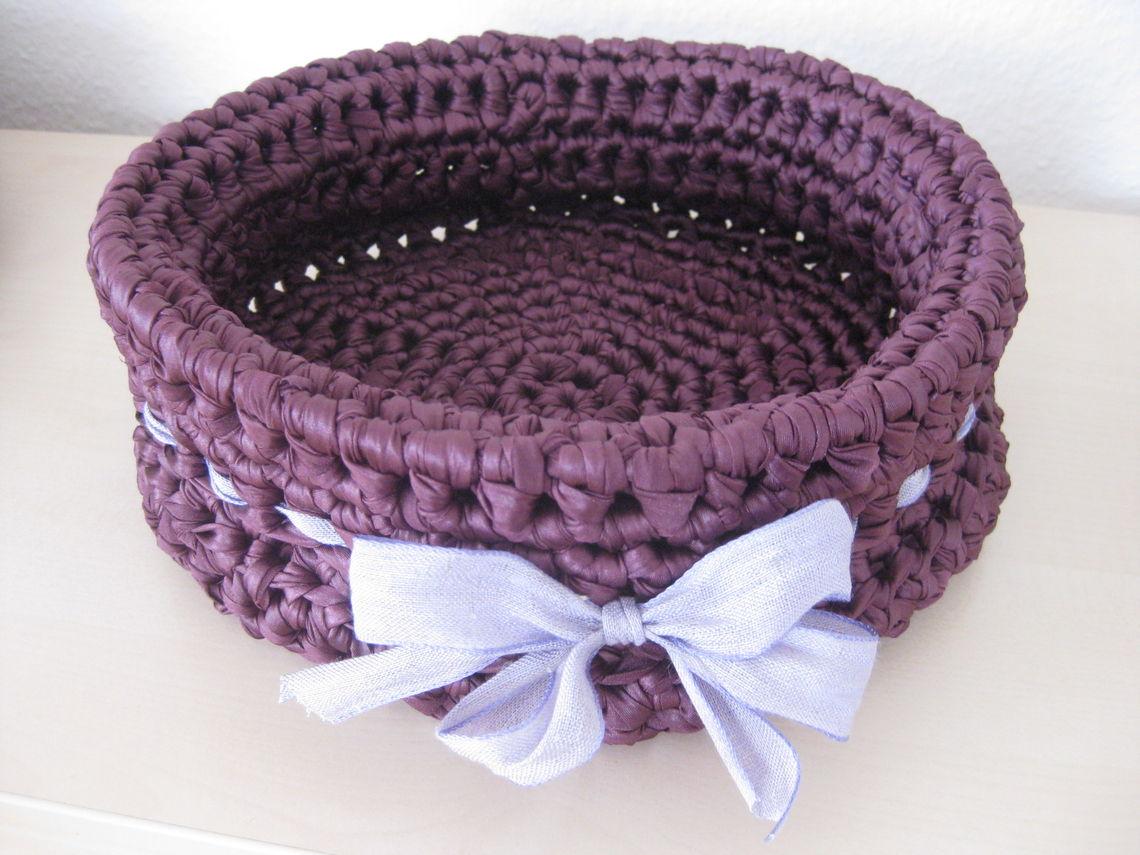 Eleganter Korb Aus Textilgarn
