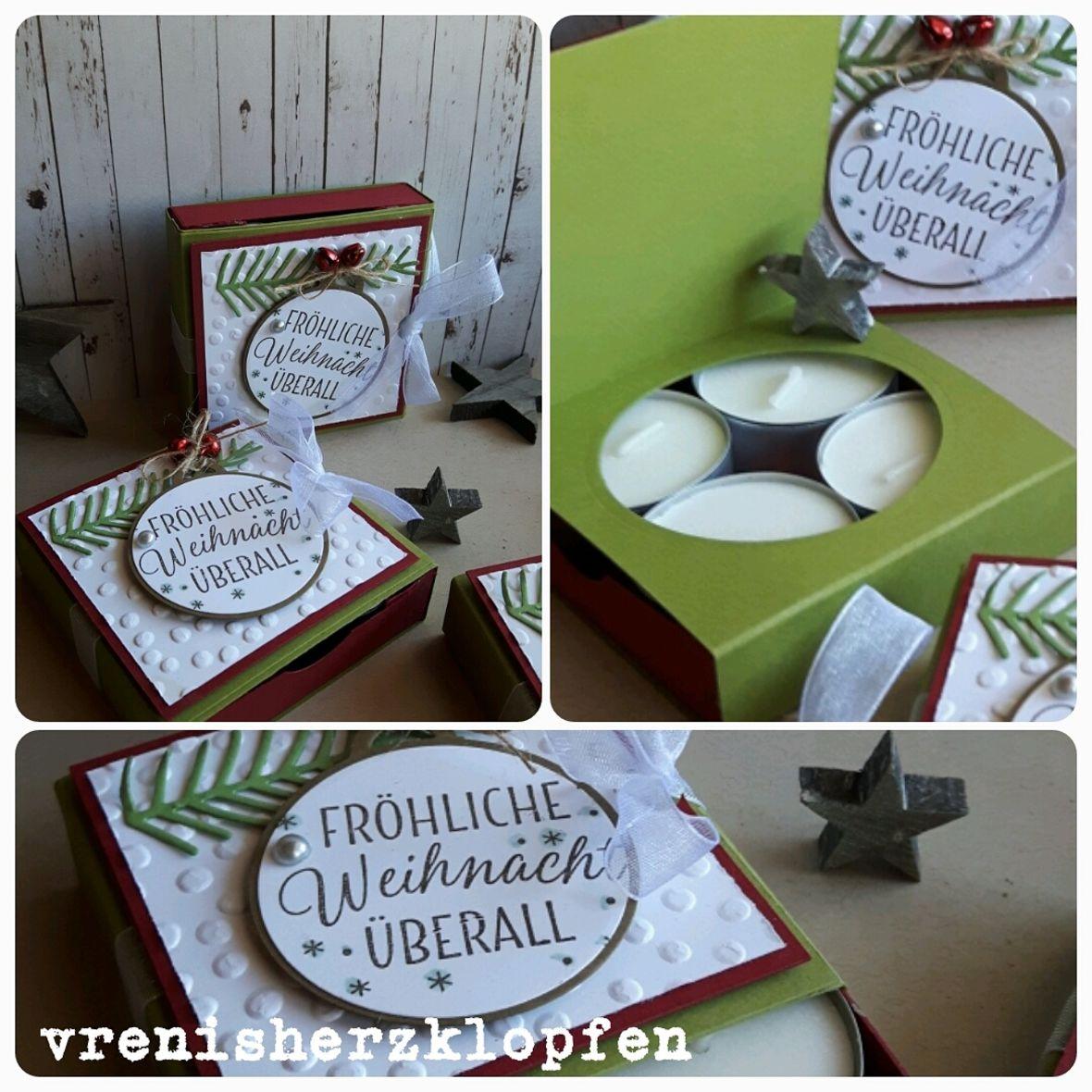 Geschenkverpackung Weihnachten Teelichter\