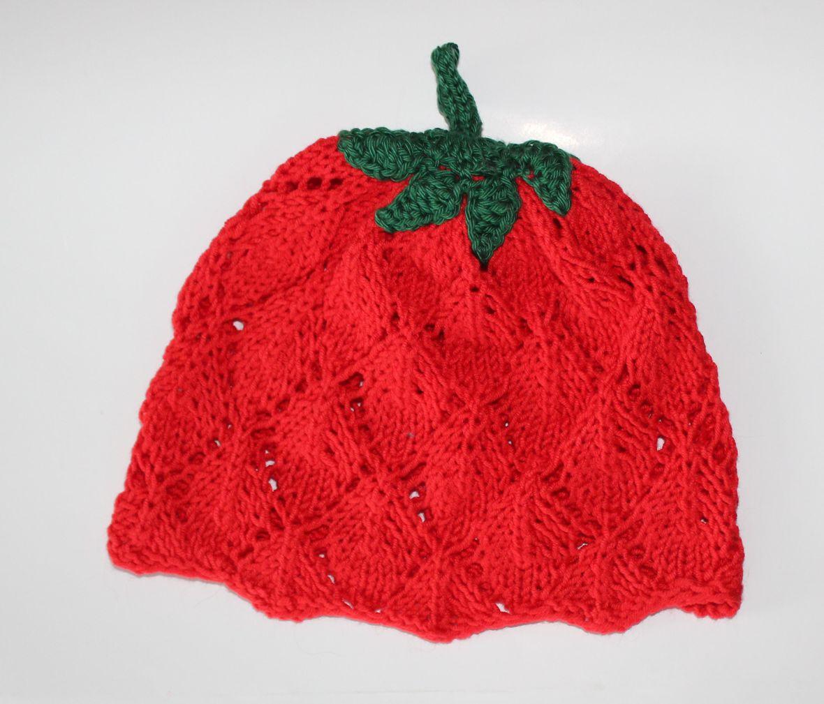 Babymütze Erdbeere
