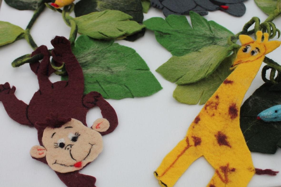 Girlande gefilzt für das Kinderzimmer oder die Schultüte