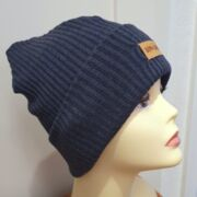Hipster Beanie in Jeansblau