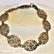 MESSINGBRACELET - DAINTY Filigree  - oxidiertes Messing
