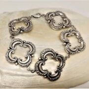 MESSINGBRACELET - FLORAL Filigree  - versilbert