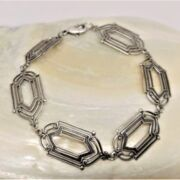 MESSINGBRACELET - SQUARE  - versilbert