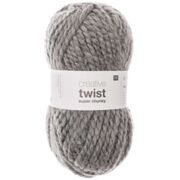 Creative Twist Super Chunky, silbergrau