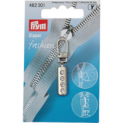Prym Fashion-Zipper Strass, silber matt