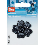 Prym Applikation Paillettenblume, schwarz