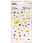 Sticker, Blumen, rosa mix