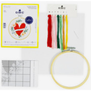 Kreuzstich - Stickring Kit, Herz