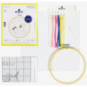 Kreuzstich - Stickring Kit, Einhorn