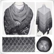 Strickanleitung Lace Shawl Black Christmas