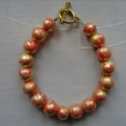 Armband Fimo Gold-Rot