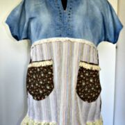 Kurzarm-Tunika  upcycling-Bluse