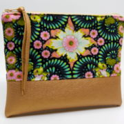 Kosmetiktasche Floral in Green
