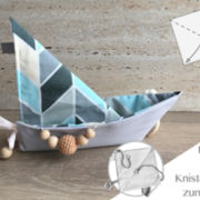 "Knistertuch Origami-Boot ""Muster"""