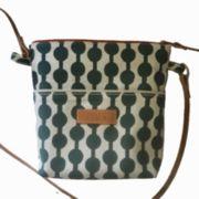 bb8f3f235a9d8 Crossbody Bag klein Canvas bedruckt mit Reissverschluss und  Naturledertraggurt
