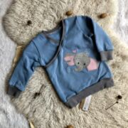 Sweater blau mit Elefant Gr 62-68