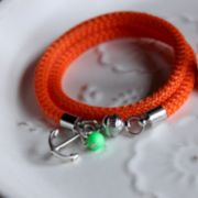 Armband Segelseil orange