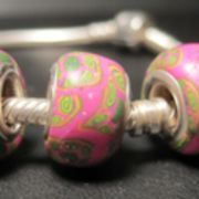 Pandora Beads in pink millefiori Technik