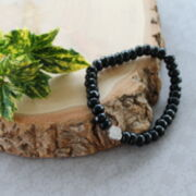 "Herrenarmband ""Black Faceted"""