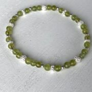 "Armband ""Think positive"" mit Peridot"