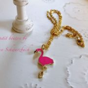 Halskette gold Flamingo