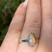 Opal Ring Free Form - 925 Sterling Silber - Stapelring