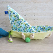 "Knistertuch Origami-Boot ""YellowFlower"""