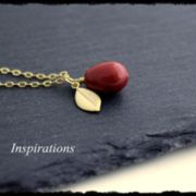 Red Coral - Kette in Gold
