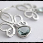 Deep Aqua Sterling Silber Ohrringe