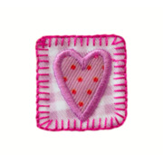 Mono-Quick Herzpatch, pink