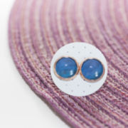 Cabochon Ohrstecker Mystic Blue