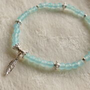 "Armband ""keep cool"" mit Chalcedon blue"