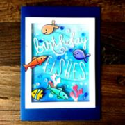 "Karte Fische ""birthday fishes"""