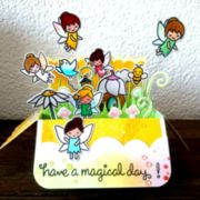 "Karte Pop up box Feen ""have a magical day"""
