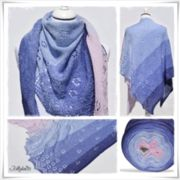 Strickanleitung Laceshawl Forget me not