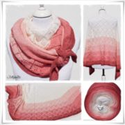 Strickanleitung Laceshawl Strawberry  Cream