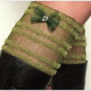 Lace legwarmers cuff collar cuffs knit ankle straps green boot socks