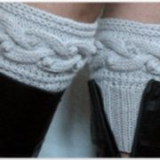 Graue Stiefel Manschette Boot Toppers Beinlinge Boot Socken stricken Stulpen Kabel gestrickt