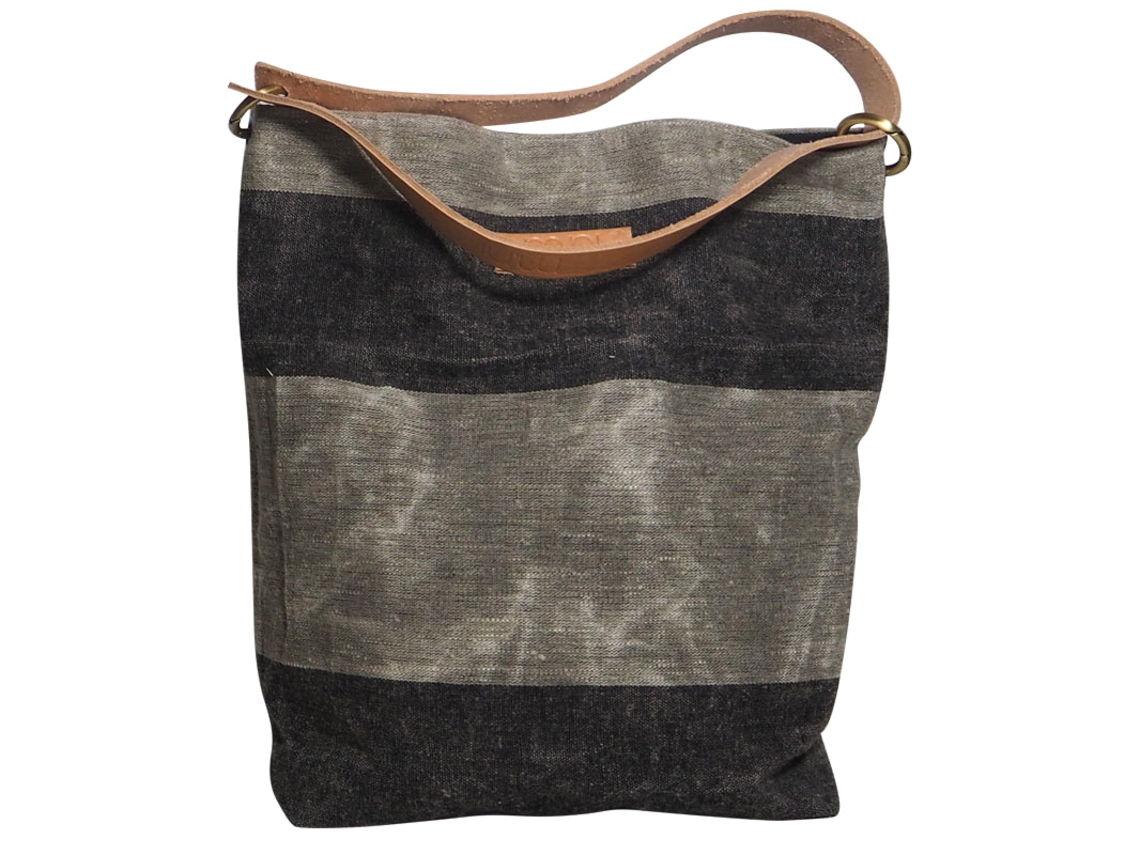 fd4ebd63714e1 Leinen Tasche gewachst  Lino  mit Leder Schulterriemen